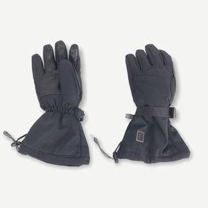 REI E1 Elements Black Leather & Goose Down Gloves